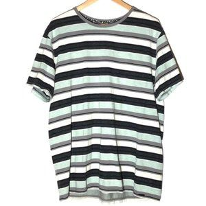 On the Byas striped tee, Mint green, grey, Black